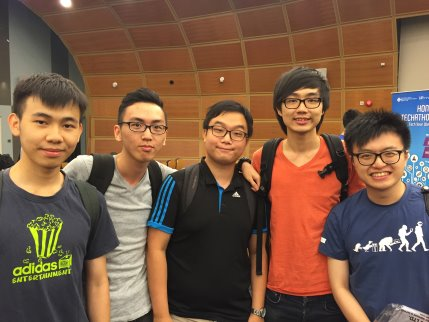 Winning Team of Hong Kong Techathon 2015