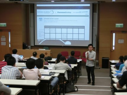 Giving a speech at The Hong Kong Polytechnic University