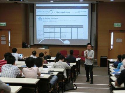 Giving a speech at The Hong Kong Polytechnic University